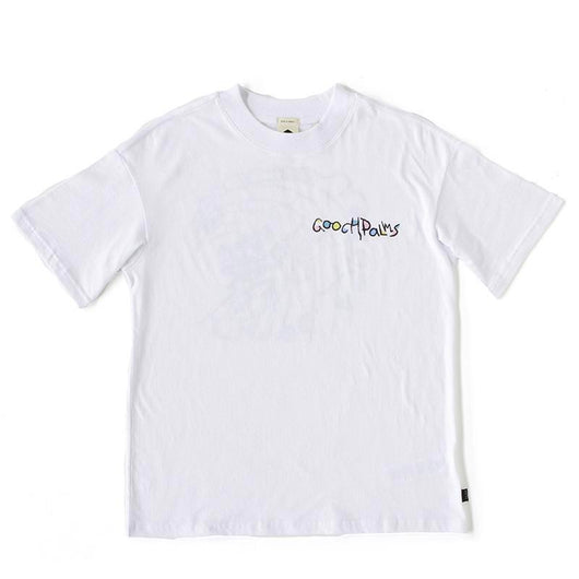 T-Shirt | 'TCSS' on White - The Gooch Palms - The Racket Club