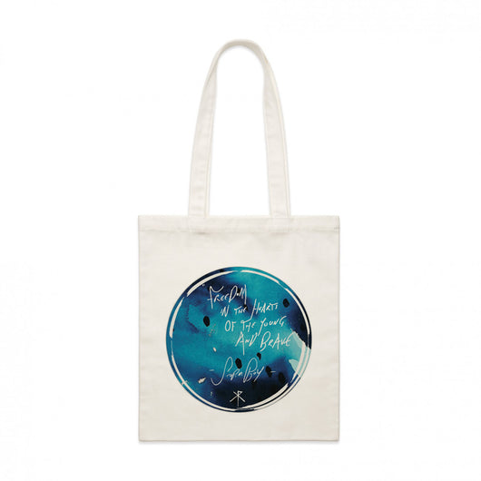 Tote Bag | 'Lyric' on Natural - Xavier Rudd - The Racket Club