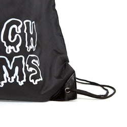 Accessories | 'Melting Palms' Drawstring Bag in Black