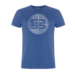 T-Shirt | 'SB Logo' on Denim Blue - Xavier Rudd - The Racket Club