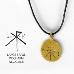 Jewellery | Large Brass XR Charm Necklace