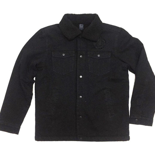 Jacket | 'DLC Badge' on Black Denim - Dead Letter Circus - The Racket Club