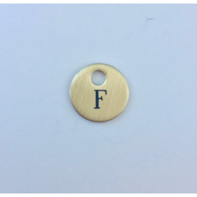 Small Round Brass Nameplate Disc