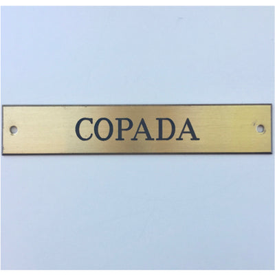 Traditional Halter Brass Nameplate