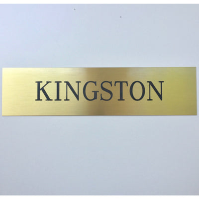 Traditional Brass Plain Stall Plate