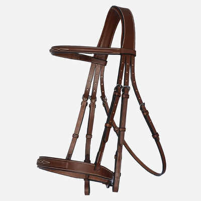 Arion Raised Fancy Stitched Wide Noseband Hunter Bridle Brown