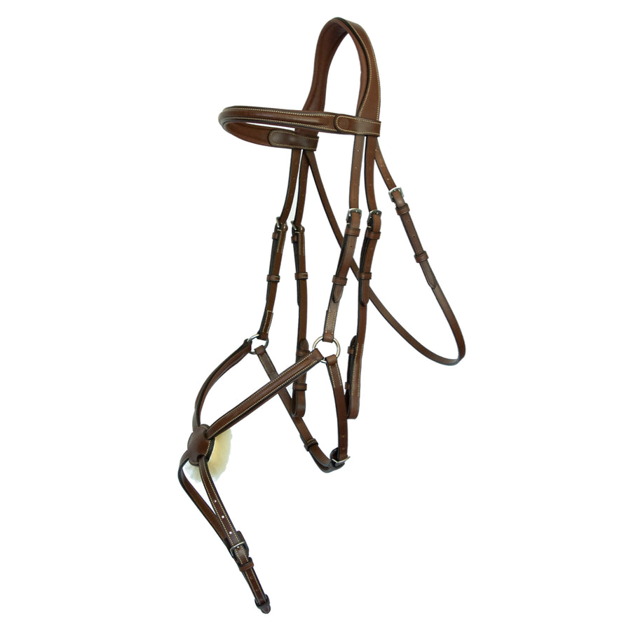 Arion Raised Plain Figure 8 Bridle with Rubber Reins