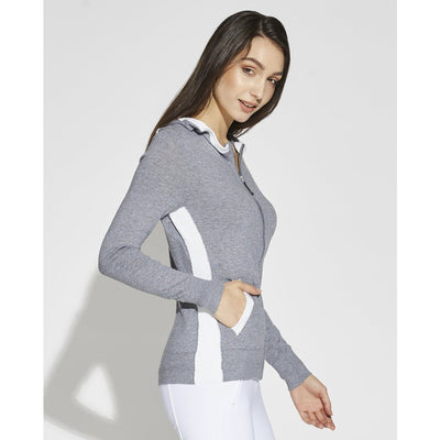 Asmar Equestrian Women's Meghan Full Zip Coolmax Sweater Grey