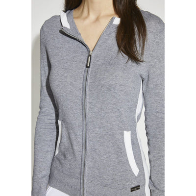 Asmar Equestrian Women's Meghan Full Zip Coolmax Sweater Grey Front