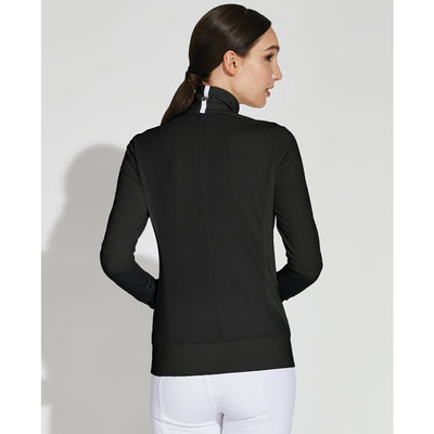 Asmar Equestrian Women's Mica Mesh Zip Jacket Black Back