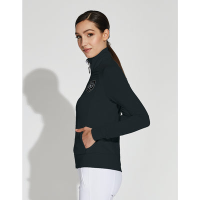 Asmar Equestrian Women's Mica Mesh Zip Jacket Black Side