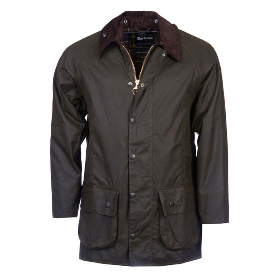 Barbour Men's Classic Beaufort Waxed Jacket Olive