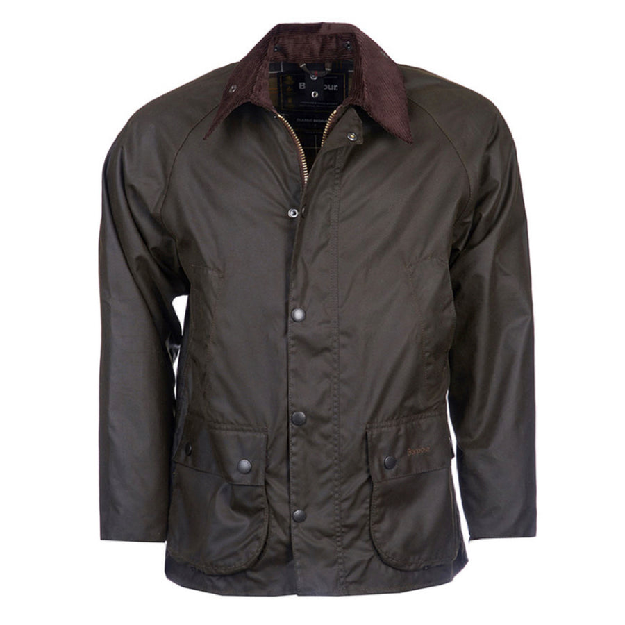 Barbour Men's Classic Bedale Waxed Jacket Olive