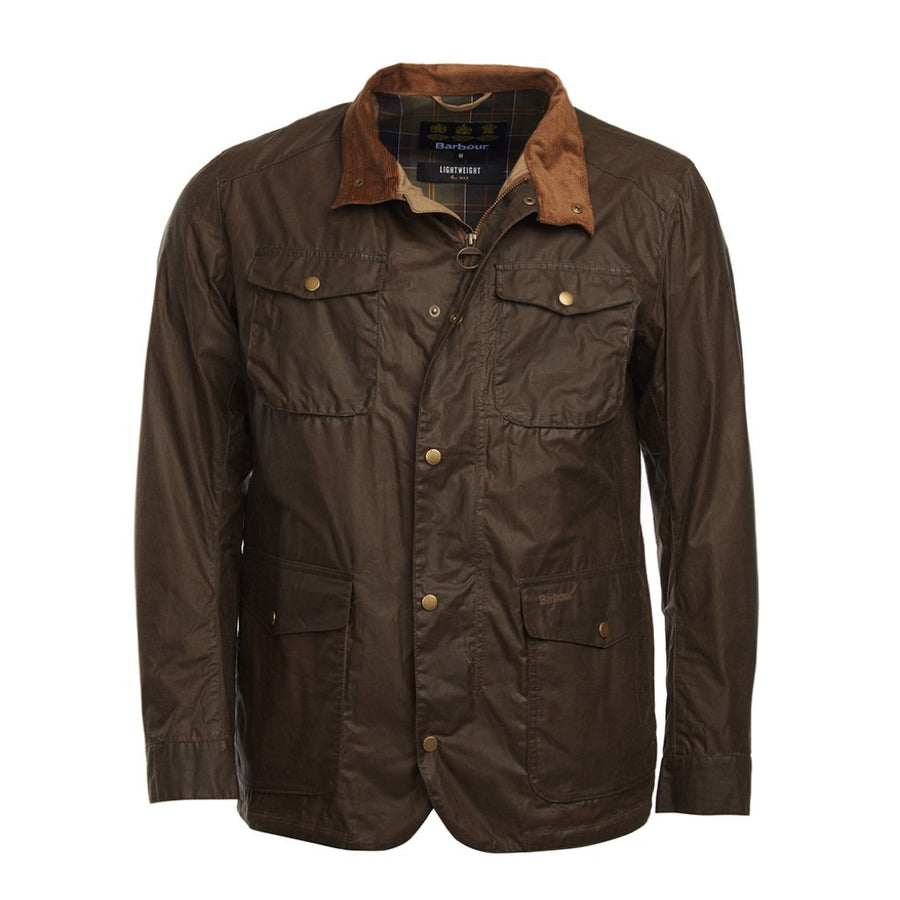 Barbour Men's Lightweight Ogston Waxed Jacket Dark Sand