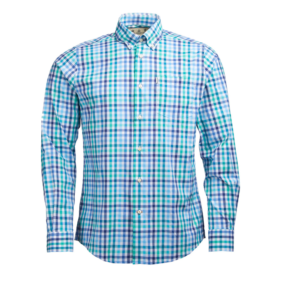 Barbour Men's Minster Tailored Shirt Aqua