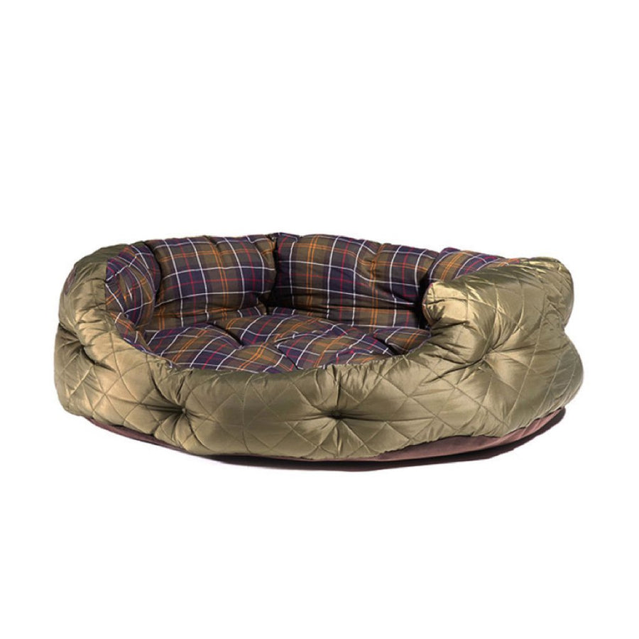 Barbour Quilted Dog Bed