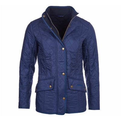 Barbour Women's Cavalry Polarquilt Jacket Dress Blue