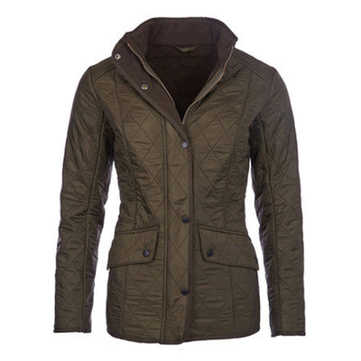 Barbour Women's Cavalry Polarquilt Jacket Dark Olive