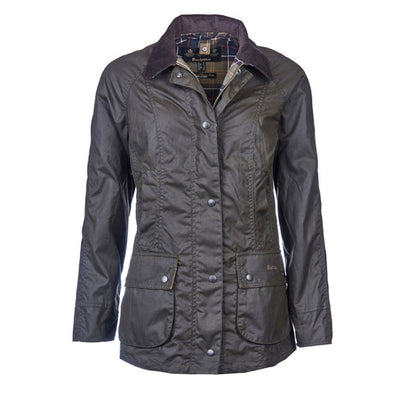 Barbour Women's Classic Beadnell Waxed Jacket Olive
