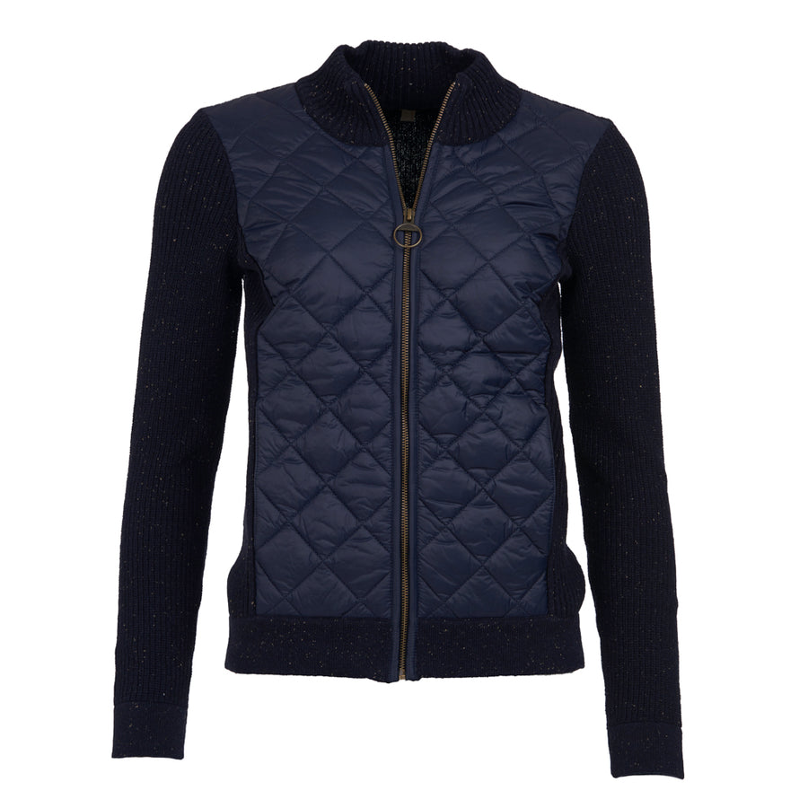 Barbour Women's Dales Quilted Sweater Navy