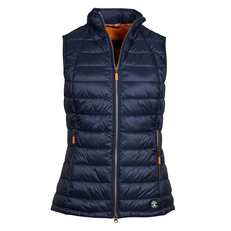 Barbour Women's Deerness Gilet Marigold/Navy
