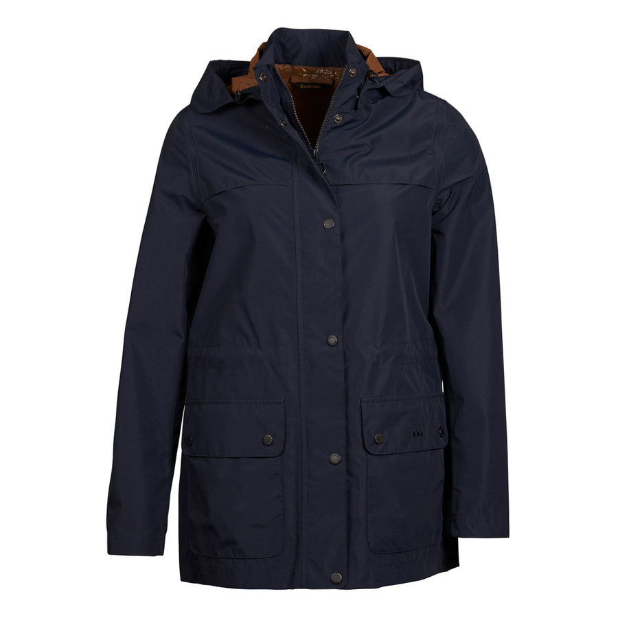 Barbour Women's Drizzel Rain Long Jacket Marigold