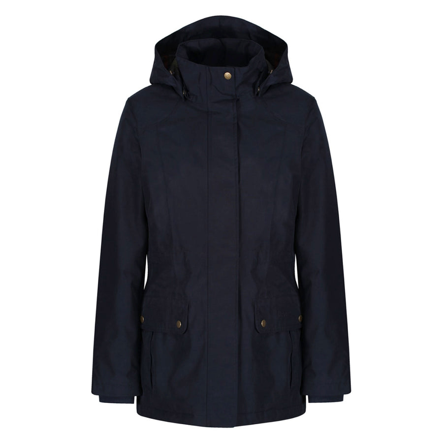 Barbour Women's Dryburgh Insulated Rain Long Jacket Navy