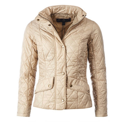 Barbour Women's Flyweight Cavalry Quilted Jacket Dark Stone