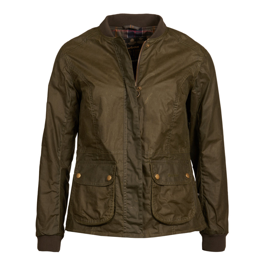 Barbour Women's Lightweight Norfolk Waxed Jacket Archive Olive