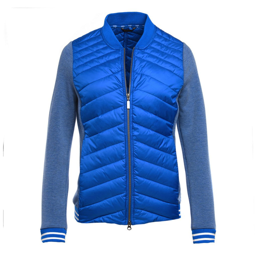 Barbour Women's Pembrey Quilted Sweater Victoria Blue