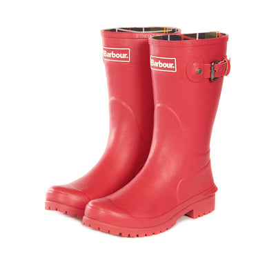 Barbour Women's Primrose Rain Boot Raspberry Apple