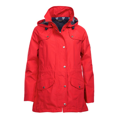Barbour Women's Trevose Rain Long Jacket Red