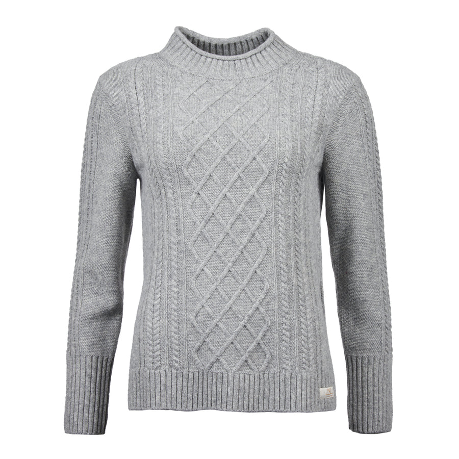 Barbour Women's Tyneside Knit Sweater Grey Marl