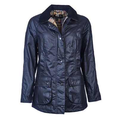 Barbour Women's Beadnell Waxed Jacket Navy