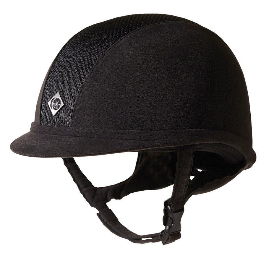 Charles Owen Ayr8 Plus Round Suede Riding Helmet Black