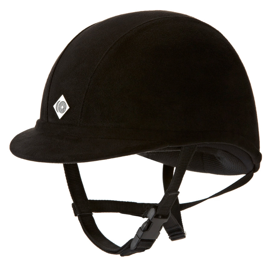 Charles Owen jR8 Suede Riding Helmet Black