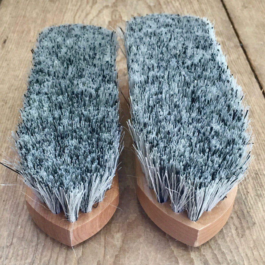 English Grey Medium Stiff Grooming Brush