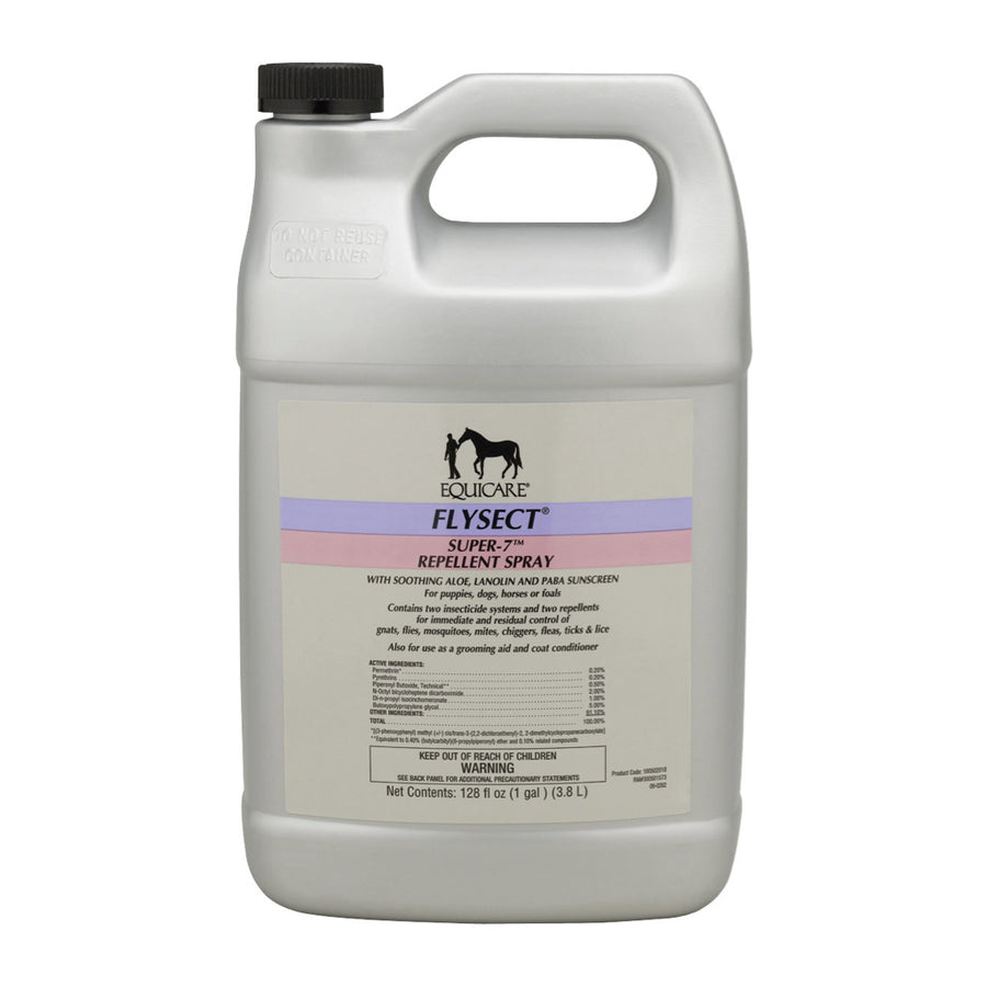 EquiCare Flysect Super 7 Fly Repellent Quart with Sprayer