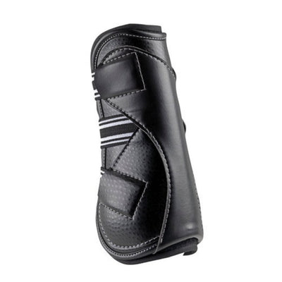 EquiFit D-TEQ Open Front Tendon Boot Black Ostrich