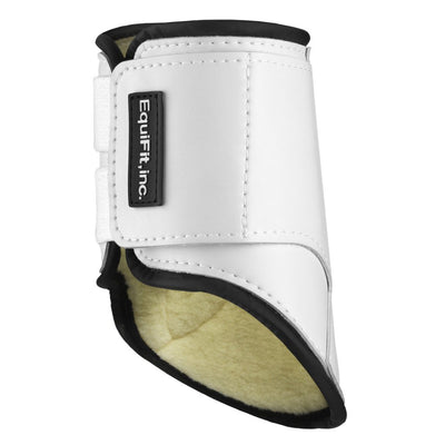 EquiFit SheepsWool MultiTeq Hind Tendon Boot White