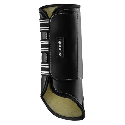 EquiFit SheepsWool MultiTeq Tall Hind Tendon Boot Black