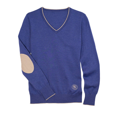 Essex Classics Women's Trey V-Neck Sweater Blue