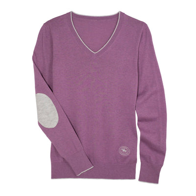 Essex Classics Women's Trey V-Neck Sweater Lilac