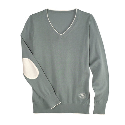 Essex Classics Women's Trey V-Neck Sweater Sage Green
