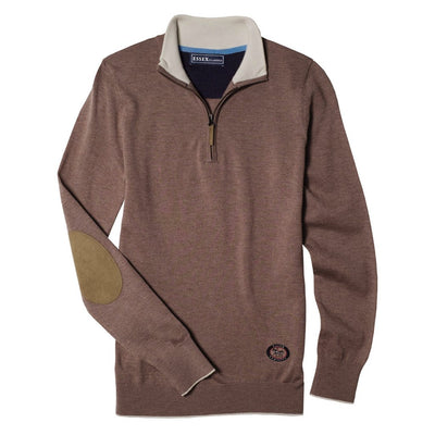 Essex Classics Women's Trey Zip Neck Sweater Brown