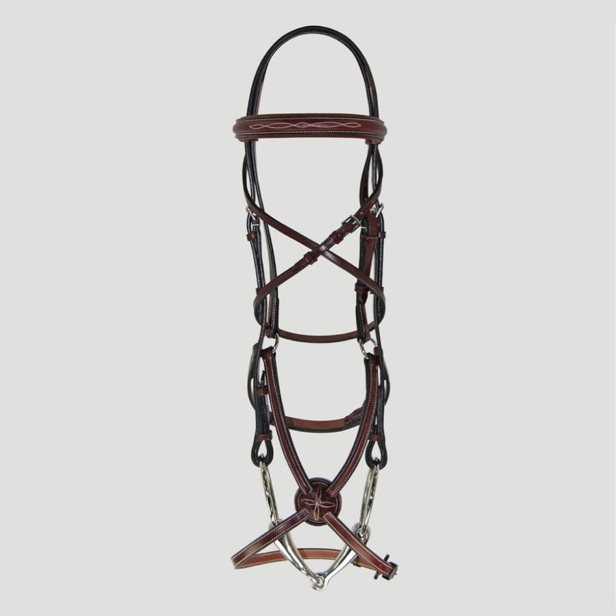 Hadfield's Raised Fancy Stitched Padded Figure 8 Bridle