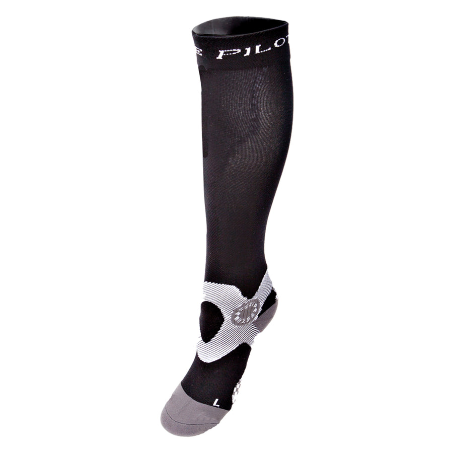Horse Pilot Compression Riding Socks Black