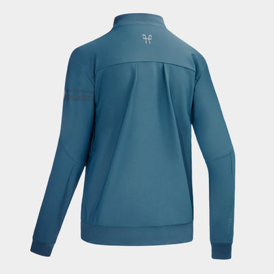 Horse Pilot Women's Bombers Airbag Compatible Softshell Jacket Teal Back