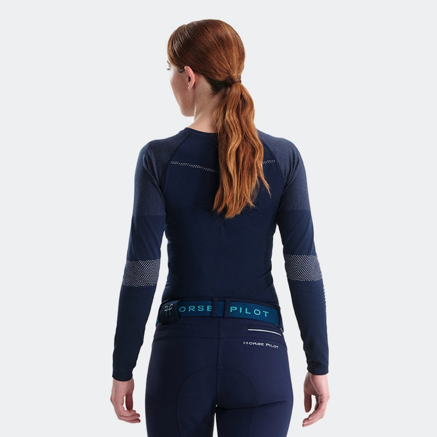 Horse Pilot Women's Optimax Long Sleeve Corrective Shirt Model Front