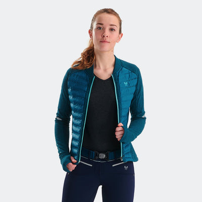 Horse Pilot Women's Storm Quilted Jacket Model Front